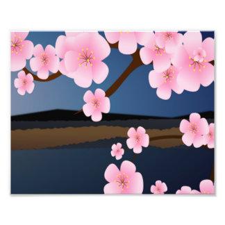 Pink Cherry Blossom Art Photo