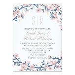 Pink Cherry Blossom Flower Wedding Invitation
