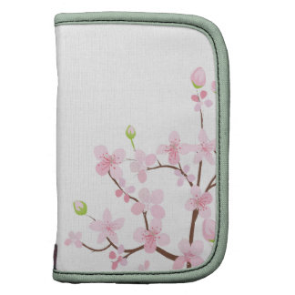 Pink Cherry Blossom Folio Mini Organizer