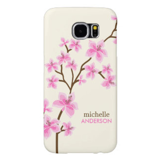 Pink Cherry Blossoms Samsung Galaxy S6 Cases
