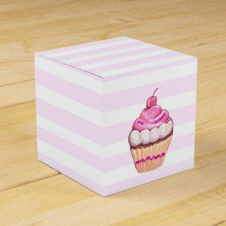 Pink Cherry Cupcake Box Wedding Favour Boxes