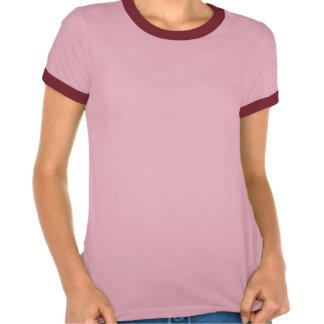 Pink Chevron Foil Pink and White Geometric Pattern Shirt