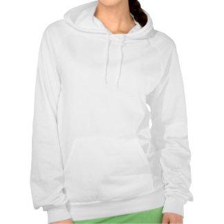 Pink Chevron Foil Pink and White Geometric Pattern Hooded Sweatshirt