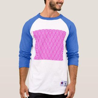 Pink Chevron Foil Pink and White Geometric Pattern Tshirts
