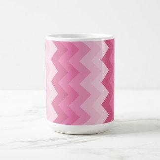 Pink chevron pattern mugs