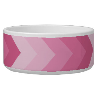 Pink chevron pattern pet bowl