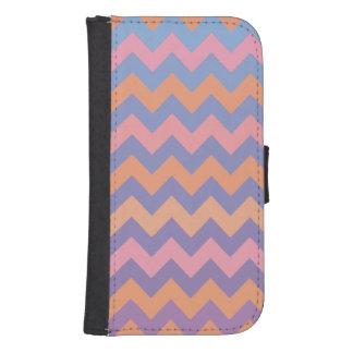 pink chevron pattern samsung s4 wallet case