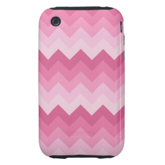 Pink chevron pattern tough iPhone 3 covers