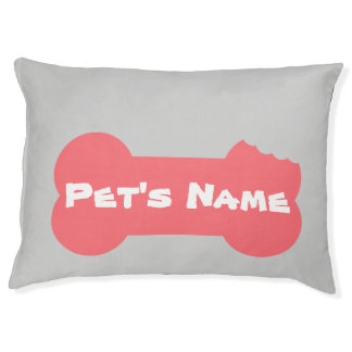 Pink Chewed Bone Personalized Large Dog Bed 5