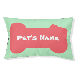 Pink Chewed Bone Personalized outdoor Dog Bed