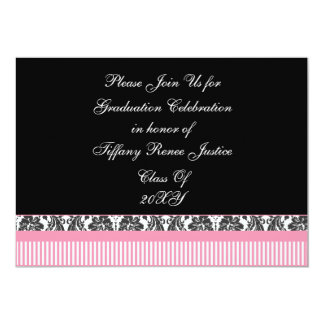 pink chic Graduation party Invitation