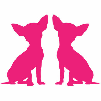 Pink Chihuahua cute silhouette sculpture, gift Standing Photo Sculpture