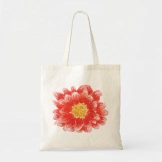 Pink Chrysanthemum Flower Tote