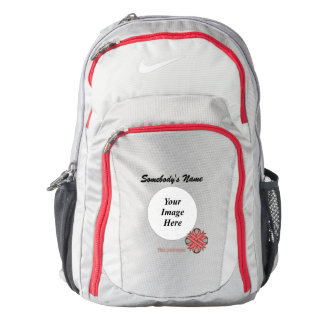 Pink Clover Ribbon Template Backpack
