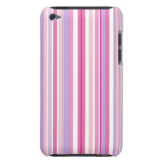 Pink Combo Stripes Barely There iPod Case