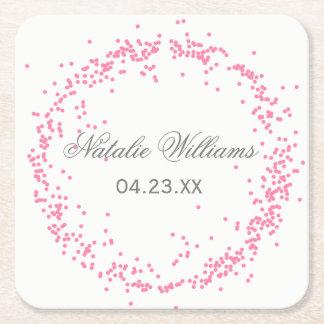Pink Confetti - Custom Coaster