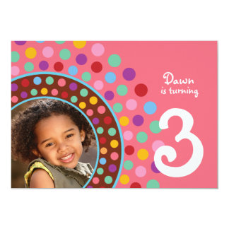 Pink Confetti Party Invitation - B