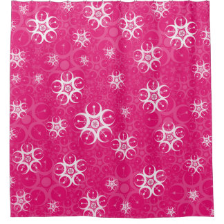 Pink Crop Circle Shower Curtain
