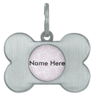 Pink Crop Circles Pet ID Tag