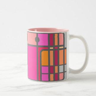 Pink Cubist Elephant Mug
