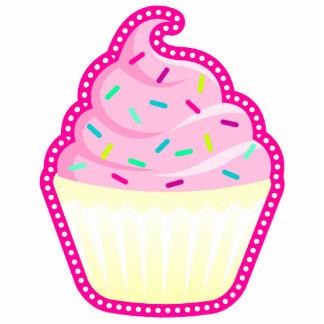 Pink Cupcake N Sprinkles Keychain Photo Sculptures