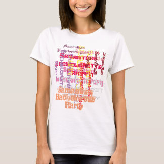 Pink custom text bachelorette party T-Shirt