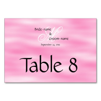 Pink Custom Wedding Monogram Card