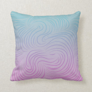 Pink Cyan with Wind Pattern Throw Cushion