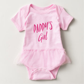 Pink Daddy's Girl Baby Bodysuit