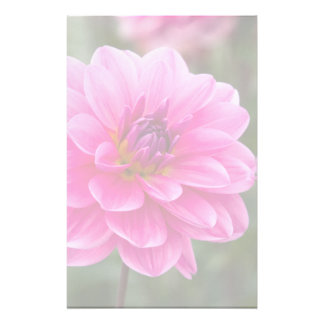 Pink Dahlia Customised Stationery