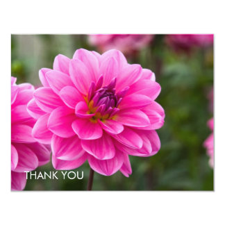 Pink Dahlia DSC4614 11 Cm X 14 Cm Invitation Card