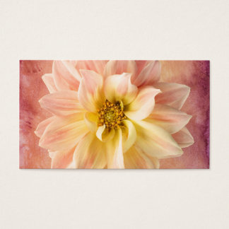 Pink Dahlia Flower Blossom Floral Business Card