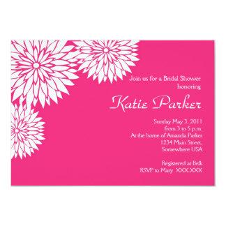Pink dahlia Flower Card