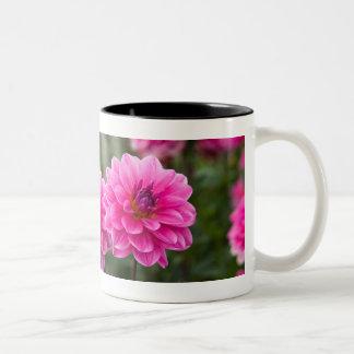 Pink Dahlia Two-Tone Mug