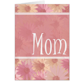 pink daises mom card