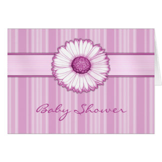 Pink Daisy Baby Shower Card