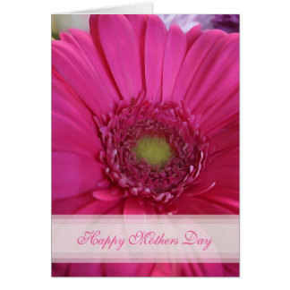 Pink Daisy Happy Mothers Day Card