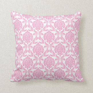 Pink Damask Pattern Cushion