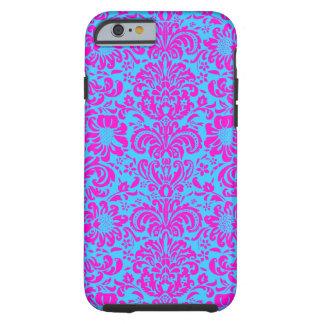 Pink Damask Tough iPhone 6 Case
