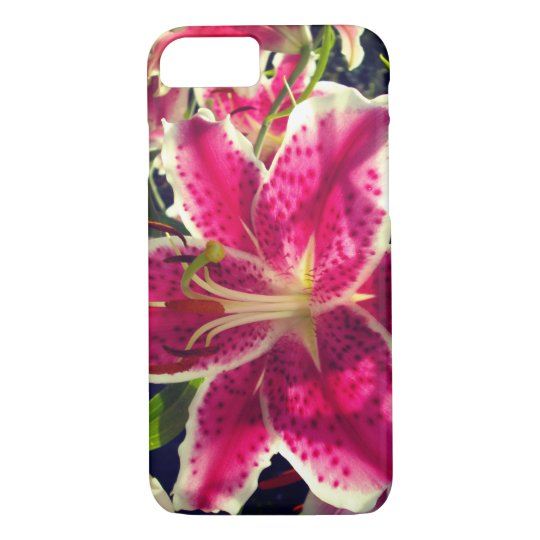 Pink Day Lily iPhone 8/7 Case