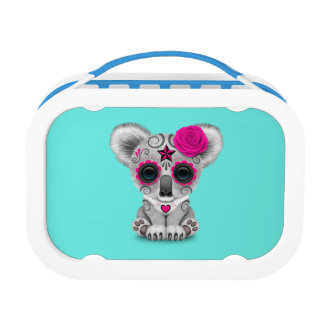 Pink Day of the Dead Baby Koala Lunch Box