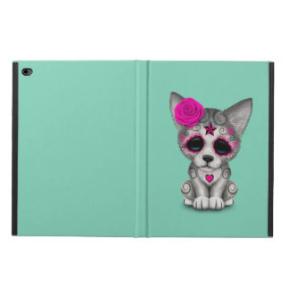 Pink Day of the Dead Sugar Skull Wolf Cub Powis iPad Air 2 Case