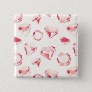 Pink Diamonds Geometric Hand Drawn 15 Cm Square Badge