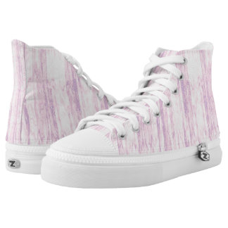 Pink Distressed Line Abstract Printed Shoes