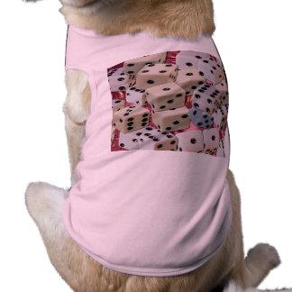 pink dog ribbed tanktop sleeveless dog shirt