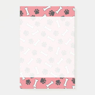 Pink Doggie Paws Chew Bones Post-it Notes