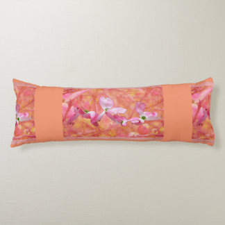 Pink Dogwood Blossom Maternity Pillow