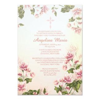 Pink Dogwoods Religious Invitation
