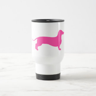 Pink Doxie Travel Mug
