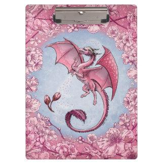 Pink Dragon of Spring Nature Fantasy Art Clipboard